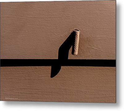 Metal Print featuring the photograph Shadow Handle by Britt Runyon