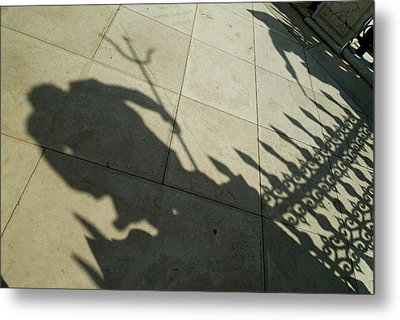 Shadow Of The Statue Of Neptune Metal Print by Todd Gipstein