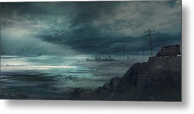 Shadow Over Innsmouth Metal Print by Guillem H Pongiluppi