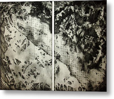 Shadows And Lace Metal Print by Nancy Mueller