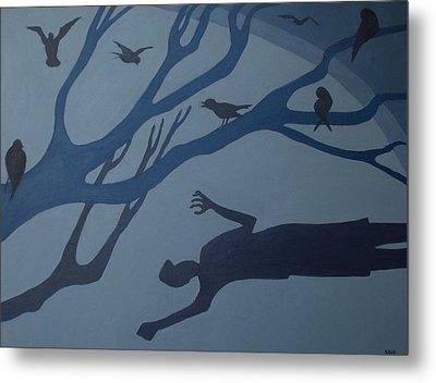 Shadows Move Among Us Metal Print by Renee Kahn