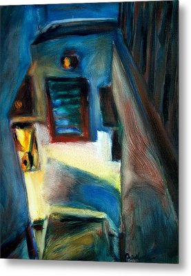 Shadows On The Down Stairs Metal Print by Bob Dornberg