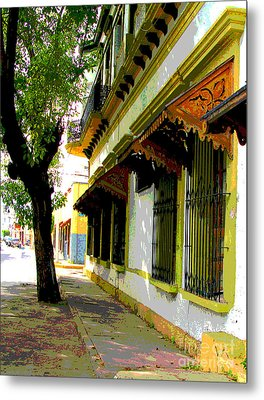 Shady Street By Darian Day Metal Print by Mexicolors Art Photography