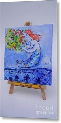 Chagall's Mermaid Metal Print