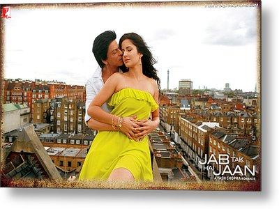 Shahrukh Katrina Kaif Jab Tak Hai Jaan Metal Print