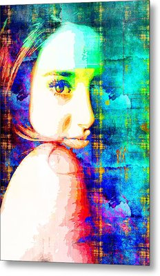 Metal Print featuring the mixed media Shailene Woodley by Svelby Art