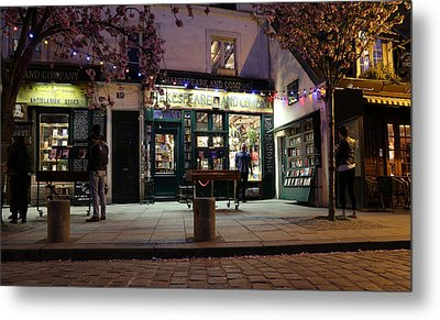 Metal Print featuring the photograph Shakespeare Book Shop 1 by Andrew Fare