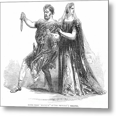 Shakespeare: Macbeth, 1845 Metal Print by Granger