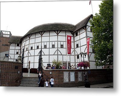 Shakespeare's Globe Theater Metal Print by Charles  Ridgway