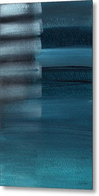 Shallow- Abstract Art By Linda Woods Metal Print by Linda Woods