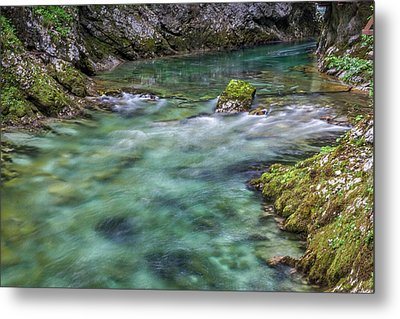 Metal Print featuring the photograph Shallows In The Gorge - Slovenia by Stuart Litoff