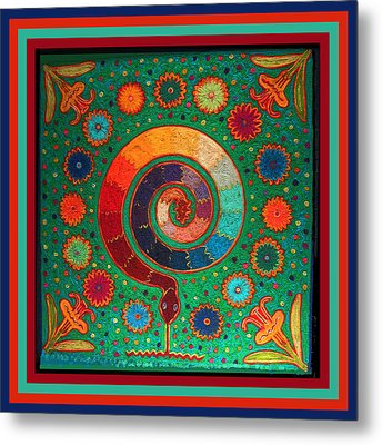 Shaman Serpent Ritual Metal Print