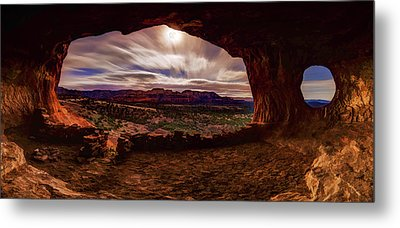 Shaman's Cave By Moonlight Metal Print by ABeautifulSky Photography