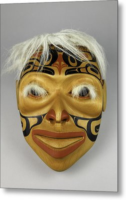 Shaman's Mask Metal Print by Gary Dean Mercer Clark