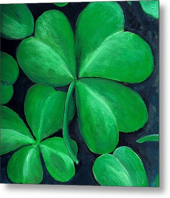 Shamrocks Metal Print by Nancy Mueller