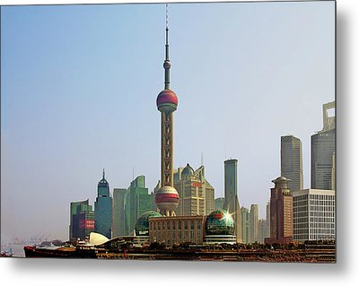 Shanghai Pudong - Today Denser Than Yesterday But Less Than Tomorrow Metal Print by Christine Till