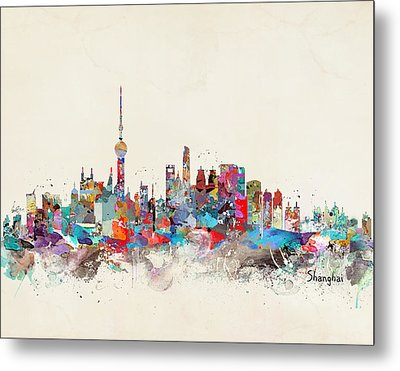 Shanghai Skyline Metal Print by Bri B