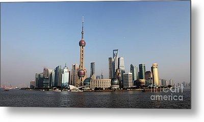 Shanghai Skyline Metal Print by Thomas Marchessault