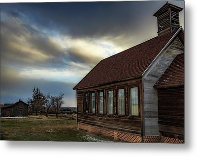 Metal Print featuring the photograph Shaniko Schoolhouse by Cat Connor