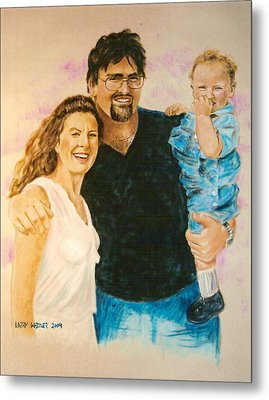 Shannon Carrie And Tommy Metal Print