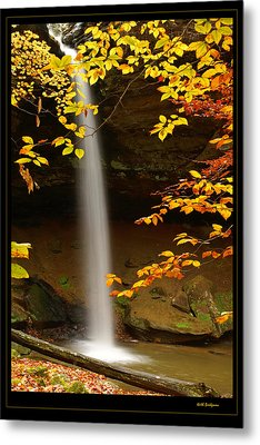 Shanty Hollow Falls Metal Print by Keith Bridgman