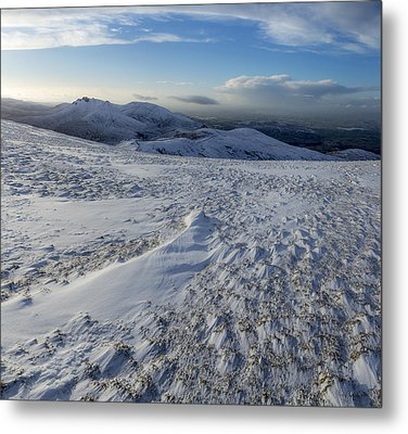 Shapes In The Ice And Far Away Metal Print