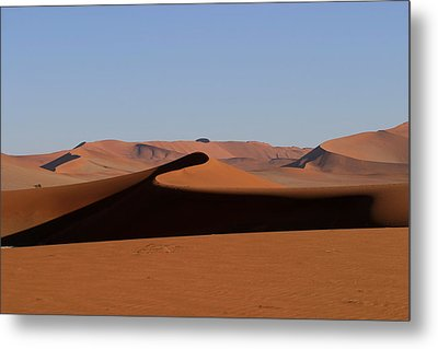 Metal Print featuring the photograph Shapes Of The Dunes by Riana Van Staden