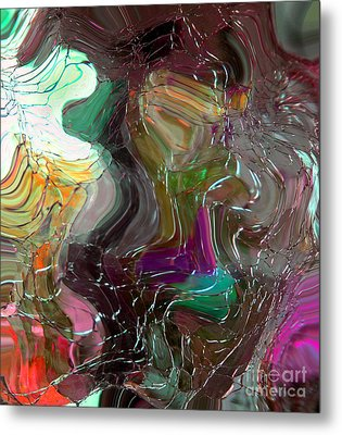 Shards Of Glass Metal Print by Mindy Sommers