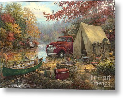 Share The Outdoors Metal Print by Chuck Pinson