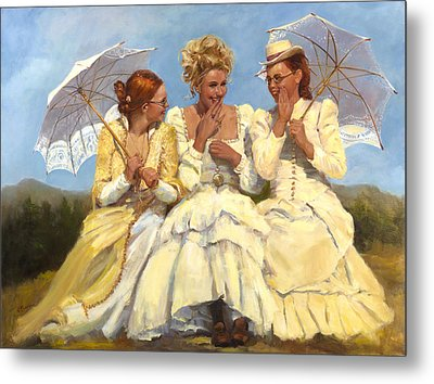 Sharing Secrets Metal Print by Catherine Marchand