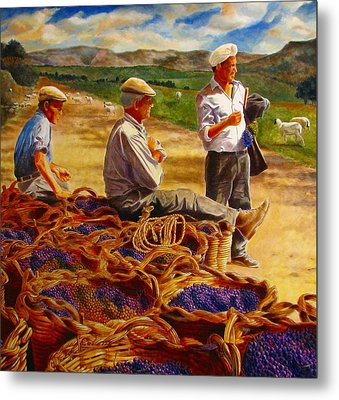 Sharing The Harvest Metal Print