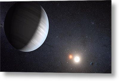 Sharing Two Suns Metal Print