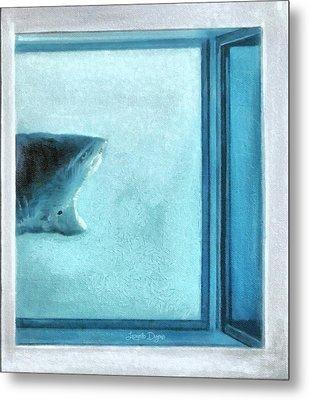 Shark In Magic Cubes - 3 Of 3 Metal Print by Leonardo Digenio