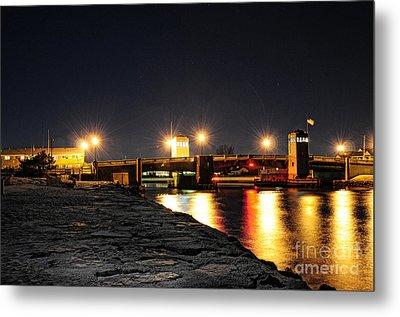 Shark River Inlet At Night Metal Print
