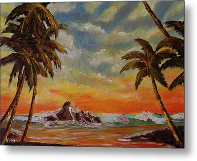 Sharks Cove North Shore Oahu #394 Metal Print by Donald k Hall