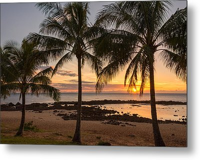Sharks Cove Sunset 3 - Oahu Hawaii Metal Print by Brian Harig