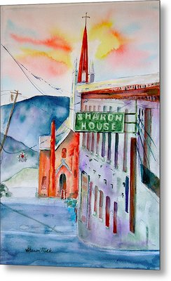 Metal Print featuring the painting Sharon House by Sharon Mick