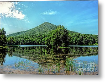 Metal Print featuring the photograph Sharp Top Mountain At Abbott Lake - Peaks Of Otter by Kerri Farley