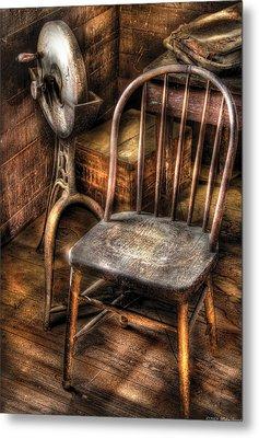 Sharpener - Grinder And A Chair Metal Print by Mike Savad