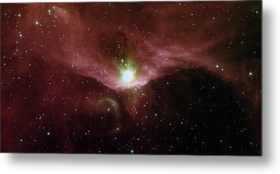 Sharpless 140 In The Constellation Cepheus Metal Print by American School
