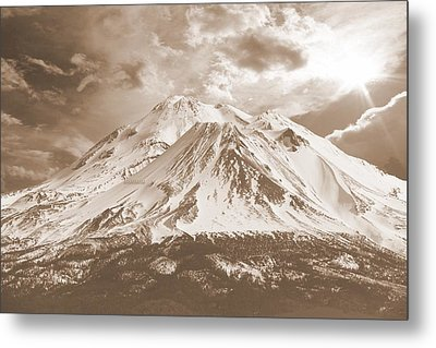 Metal Print featuring the photograph Shasta Mt by Athala Carole Bruckner