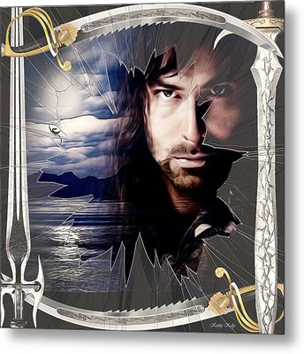 Shattered Kili With Swords Metal Print by Kathy Kelly