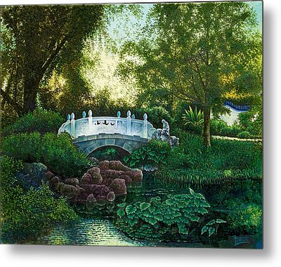 Metal Print featuring the painting Shaw's Chinese Garden by Michael Frank