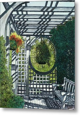 Metal Print featuring the painting Shaw's Garden Place Of Solitude by Michael Frank