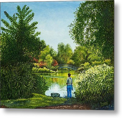 Metal Print featuring the painting Shaw's Garden's Admirer by Michael Frank