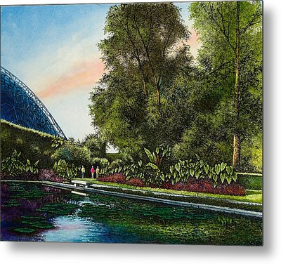 Metal Print featuring the painting Shaw's Gardens Climatron by Michael Frank