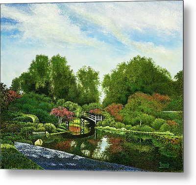 Metal Print featuring the painting Shaw's Japanese Gardens by Michael Frank