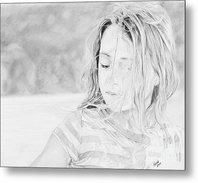 Shayla Metal Print by Shevin Childers