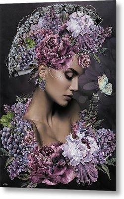 She Cast Her Fragrance Metal Print