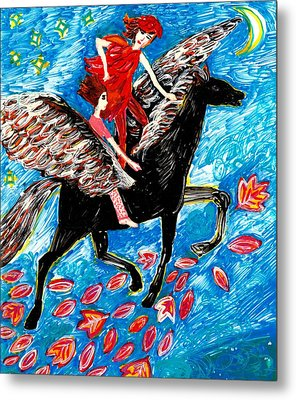 She Flies With The West Wind Metal Print by Sushila Burgess